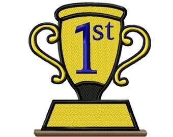Winning Trophy...Solid Fill Machine Embroidery DESIGN NO. 686