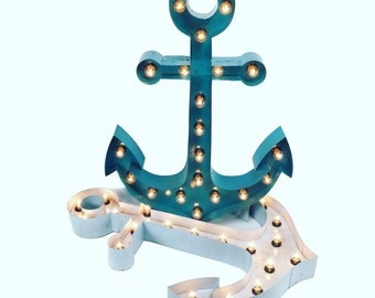 """ANCHOR 30"""", steel anchor marquee, marquee sign, light up anchor"""