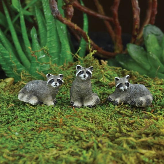 Fairy garden raccoon miniature racoon by miniaturefairydreams How to keep raccoons out of garden