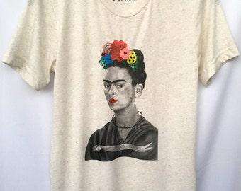 Frida Kahlo T-shirt. Frida Colorful T-shirt Unisex Frida Kahlo T-shirt. Gift Friendly