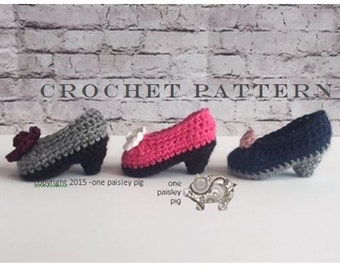 Pint Size Pumps / Baby High Heels - Baby Booties - PDF CROCHET PATTERN