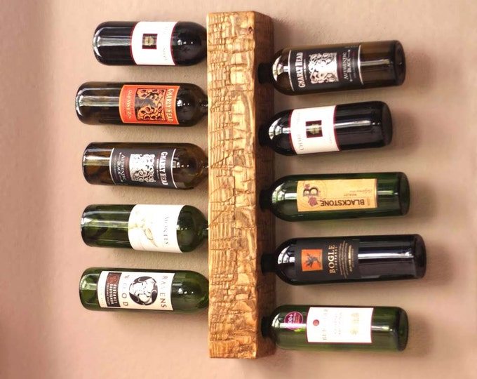 Wall Wine Rack | Vertical Wine Rack | Wood Wine Rack Holds 10 Bottles