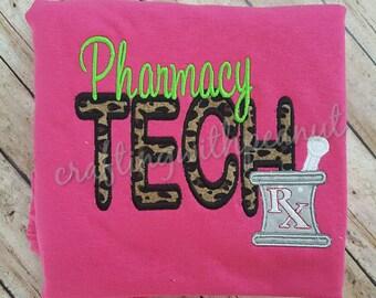 Occupational shirt,  pharmacy, pharmacy tech, mortar, pestal, Leopard, pharmacy week