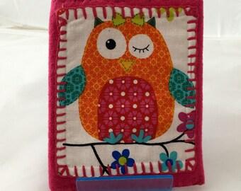 Pink Cheeky Owl Gadget Case