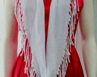 T shirt scarf/ t shirt scarf/ white scarf
