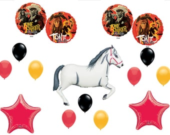 LONE RANGER TONTO Happy Birthday Party Balloons Decorations Supplies Horse Movie