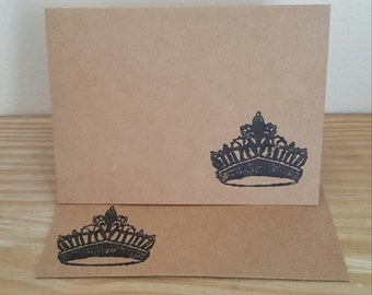Post Card, Crown Post Card, Invitation, Blank Card, Birthday Card, Queen Post Card