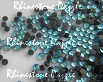 10,000pcs ss10 Hotfix Aquamarine Crystal Flat Back Rhinestones, 3mm Hotfix Aquamarine Crystal Flat Back Rhinestones, rhinestone supply