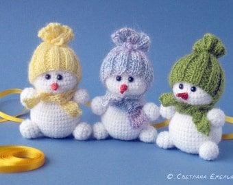 Crochet Toy Snowman
