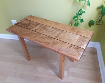 Bench, Entry Bench, Tiger Maple Bench, Curly Maple Bench, Salvaged Wood Bench #2