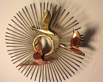 3 Dimentional Copper/Brass Wall Art.