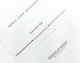 Morse code 'daughter' bracelet - perfect gift!