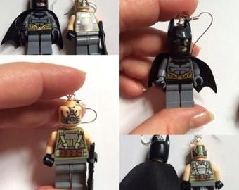 Lego Batman vs Bane Earrings