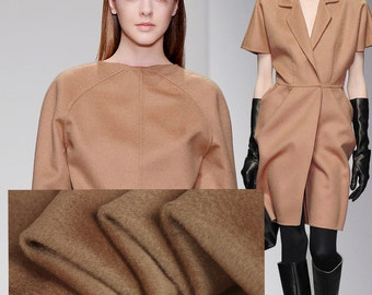 High Quality Autumn and Winter Clothes Overcoat Brown Wool Cashmere Fabric 150CM Wide 550G/M E174