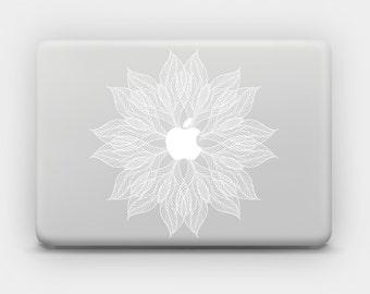 Transparent MacBook Skin MacBook Sticker MacBook Decal Laptop Skin Laptop Sticker MacBook Air MacBook Pro - Lacy Flower