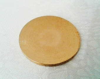 4 Pcs Raw Brass 25 mm Round Stamping Blank Disc ( No Hole -Thickness Of 1,5 mm ) 15 Gauge