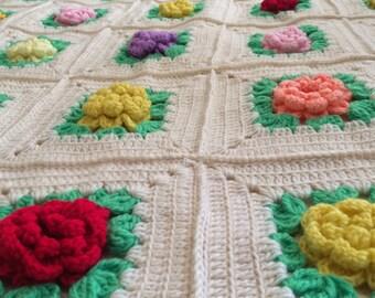 Crotchet Floral Quilt