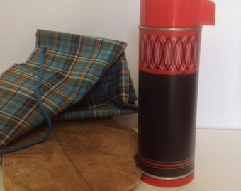 Vintage Aladdin Red StripeThermos