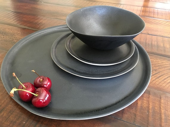 pottery dinnerware sets handmade black dinnerware set handmade dinnerware set pottery plates 564