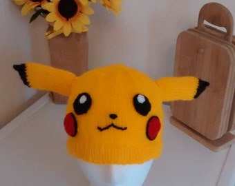 Pikachu knitted hat