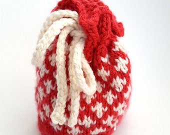 Red Fleur de Lis Dungeoneer's Dice Bag