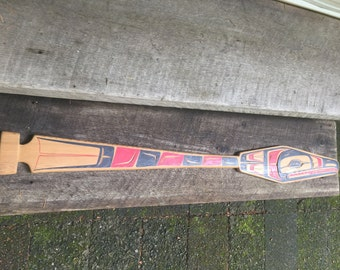 West coast carved paddle