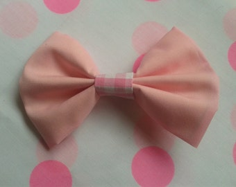 Pink Sweet Lolita Cute Bow Hair Clip With Gingham