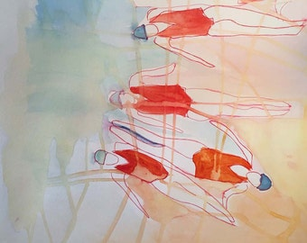 Swimmer's Ear Original Painting and Sketch