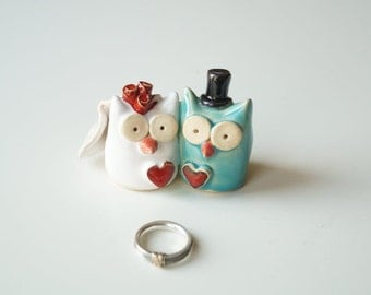 Wedding Cake Topper, Owl Cake Topper by Her Moments