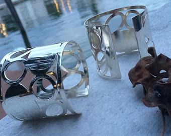Sterling silver FABI cuff. Original design.