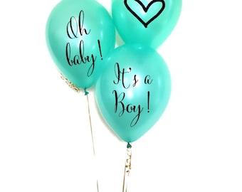 I4 It's A Boy Balloon Decals Set Baby Boy Balloons Party Balloons Baby Shower Decals Oh Baby Balloons Gender Reveal Party Balloons