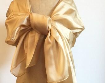 Golden Silk (organza) scarf