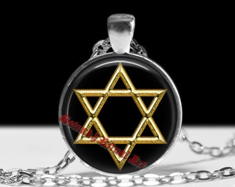 Star of David necklace, jewish symbol pendant, hexagram jewelry, magic talisman, hebrew amulet, Judaism, judaistic symbol #272