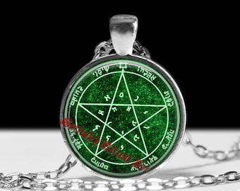 Second pentacle of Venus pendant, grace and honor talisman, Goetia Solomon Seals, ritual necklace, occult jewelry, ceremonial magick #103