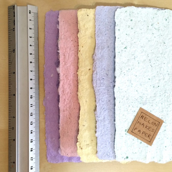 Items similar to handmade paper pastel papers diy for Unique crafts to sell on etsy