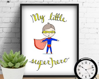 Boy Nursery Print, Nursery Wall Art Printable Wall Art Instant Digital Download File 8x10