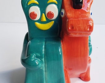 Clay Art Gumby and Pokey Ceramic Bank