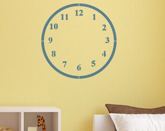 Wall Decals Stickers Clock- 8 to 19 inches high  Wall Large Clock  Wall Art Wall decor