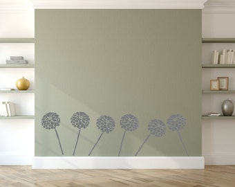 Flower  Wall Stencil, Wall Art Stencil  in reusable Mylar, wall art, small to large stencils up to 19.5 x 27.5 inches.
