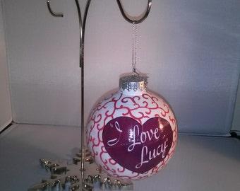 "Handmade ""I Love Lucy"" Ornament"