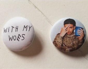 Drake Pinback Button Set (31mm)
