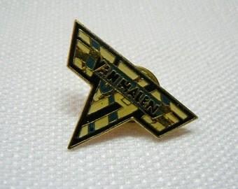 Vintage Early 80s Van Halen VH Logo Enamel Pin / Button