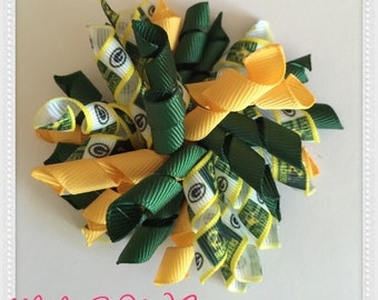 Green Bay Packers inspired Hairbow
