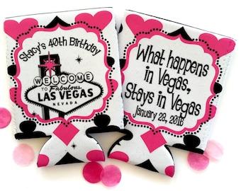 Bachelorette or Birthday Vegas Huggers. Vegas Girl's weekend Huggers. Vegas Wedding. Monogram Bachelorette Party Favors. Vegas Party Hugger