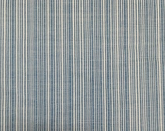 Blue Woven Cotton Upholstery Fabric By The Yard