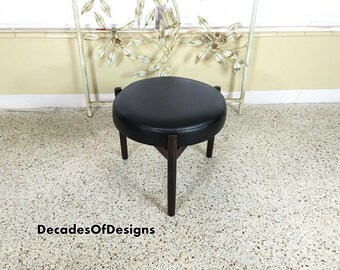 1960s Rosewood Spottrup Stool/Ottoman Labeled Danish Mid Century Vintage Pearsall
