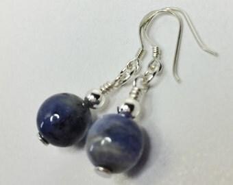 Tanzanite Drop Earrings Genuine Gemstone Earrings 925 Sterling Silver December Birthstone Beaded Earrings Natural Stone Blue Earrings