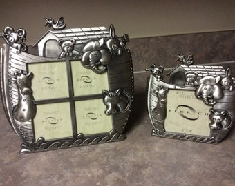 A Set of two Metal Works Collection Noah's Ark Design  Picture Frames, Kenrich.