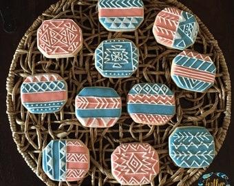 Tribal Cookies; Custom tribal pattern cookies