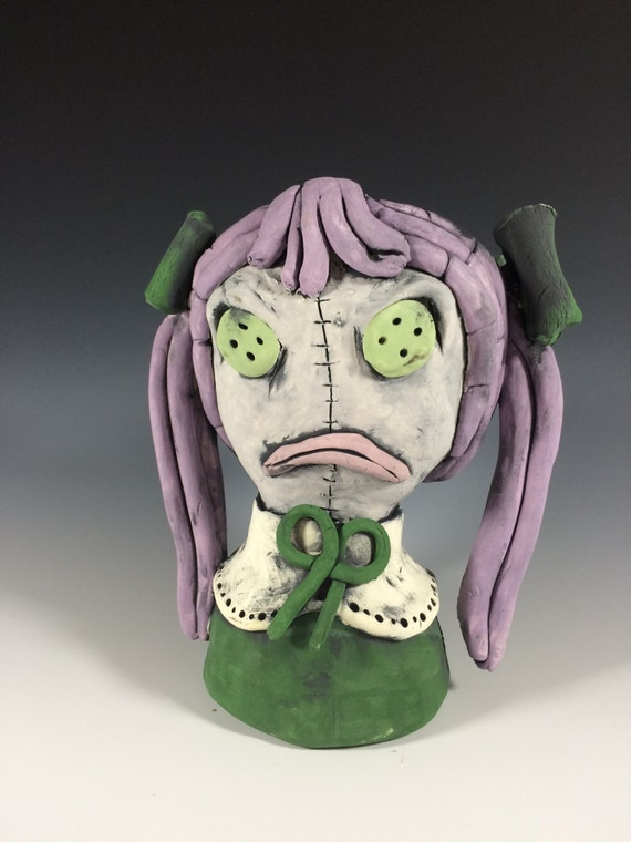 Ashley the Doll // Succulent Pot // Doll Lovers // Ceramic Planter // Plant Lovers // Gifts for Coworkers // Gifts for Her // Doll Planter
